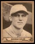 1940 Play Ball #179  George Sisler  Front Thumbnail
