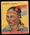 1933 Goudey Indian Gum #27  Joseph Brant   Front Thumbnail