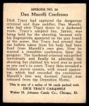 1931 Johnson Candy Dick Tracy R41 #26   Junior Still in Jail Back Thumbnail