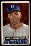 1951 Bowman #80  Pee Wee Reese  Front Thumbnail