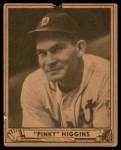 1940 Play Ball #199  Pinky Higgins  Front Thumbnail
