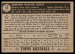 1952 Topps #57  Eddie Lopat  Back Thumbnail