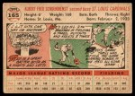 1956 Topps #165 WHT Red Schoendienst  Back Thumbnail