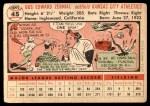 1956 Topps #45  Gus Zernial  Back Thumbnail