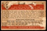 1953 Bowman B&W #40  Larry Jansen  Back Thumbnail