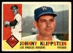 1960 Topps #191  Johnny Klippstein  Front Thumbnail