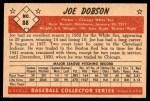 1953 Bowman #88  Joe Dobson  Back Thumbnail