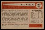 1954 Bowman #91  Cal Abrams  Back Thumbnail