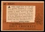 1956 Topps Davy Crockett #69   Help!  Back Thumbnail
