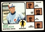 1973 Topps #377   -  Gene Mauch / Dave Bristol / Larry Doby / Cal McLish / Jerry Zimmerman Expos Leaders Front Thumbnail