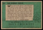 1956 Topps Davy Crockett Green Back #28   An Enemy Falls  Back Thumbnail