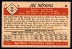 1953 Bowman #90  Joe Nuxhall  Back Thumbnail
