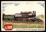 1955 Topps Rails & Sails #127   Single Wheeler Front Thumbnail