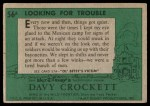1956 Topps Davy Crockett Green Back #56   Looking for Trouble  Back Thumbnail