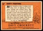 1956 Topps Davy Crockett #37   Dirty Fighting  Back Thumbnail