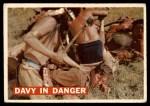 1956 Topps Davy Crockett #22   Davy in Danger  Front Thumbnail