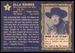1953 Topps Who-Z-At Star #7  Ella Raines  Back Thumbnail