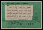 1956 Topps Davy Crockett Green Back #47   Rough and Tumble  Back Thumbnail