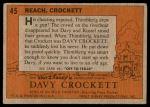 1956 Topps Davy Crockett Orange Back #45   Reach Back Thumbnail