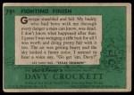 1956 Topps Davy Crockett Green Back #79   Fighting Finish  Back Thumbnail