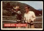 1956 Topps Davy Crockett Green Back #38   Good-Bye Front Thumbnail