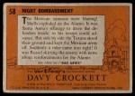 1956 Topps Davy Crockett #58   Night Bombardment  Back Thumbnail