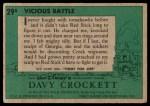1956 Topps Davy Crockett Green Back #29   Vicious Battle  Back Thumbnail