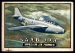 1952 Topps Wings #121   SAAB 29A Front Thumbnail