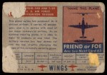 1952 Topps Wings #82   Convair 240 Back Thumbnail