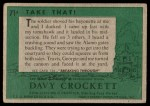 1956 Topps Davy Crockett Green Back #71   Take That!  Back Thumbnail