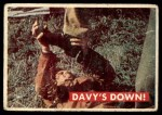 1956 Topps Davy Crockett Green Back #36   Davy's Down!  Front Thumbnail