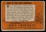 1956 Topps Davy Crockett Orange Back #1   King of the Wild Frontier     Back Thumbnail