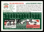 1954 Topps Archives #109  Bill Bruton  Back Thumbnail