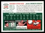 1954 Topps Archives #126  Ben Wade  Back Thumbnail
