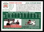1954 Topps Archives #256  Herb Score  Back Thumbnail
