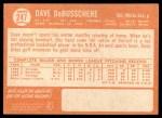 1964 Topps #247  Dave DeBusschere  Back Thumbnail