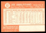 1964 Topps #451  Joe Amalfitano  Back Thumbnail