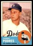 1963 Topps #150  Johnny Podres  Front Thumbnail