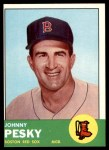 1963 Topps #343  Johnny Pesky  Front Thumbnail