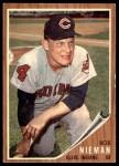 1962 Topps #182 GRN Bob Nieman  Front Thumbnail