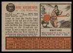 1962 Topps #341  Mike Hershberger  Back Thumbnail