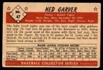 1953 Bowman #47  Ned Garver  Back Thumbnail