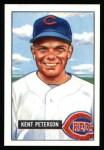 1951 Bowman REPRINT #215  Kent Peterson  Front Thumbnail