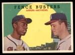 1959 Topps #212   -  Hank Aaron / Eddie Mathews Fence Busters Front Thumbnail
