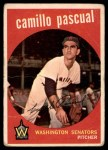 1959 Topps #413  Camilo Pascual  Front Thumbnail