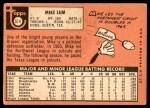 1969 Topps #514  Mike Lum  Back Thumbnail