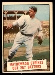 1961 Topps #408   -  Christy Mathewson Baseball Thrills Front Thumbnail