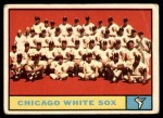 1961 Topps #7 WHI  White Sox Team Front Thumbnail