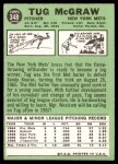 1967 Topps #348  Tug McGraw  Back Thumbnail