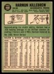 1967 Topps #460  Harmon Killebrew  Back Thumbnail